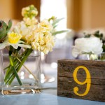 Rustic Wood Table Numbers, Flowers